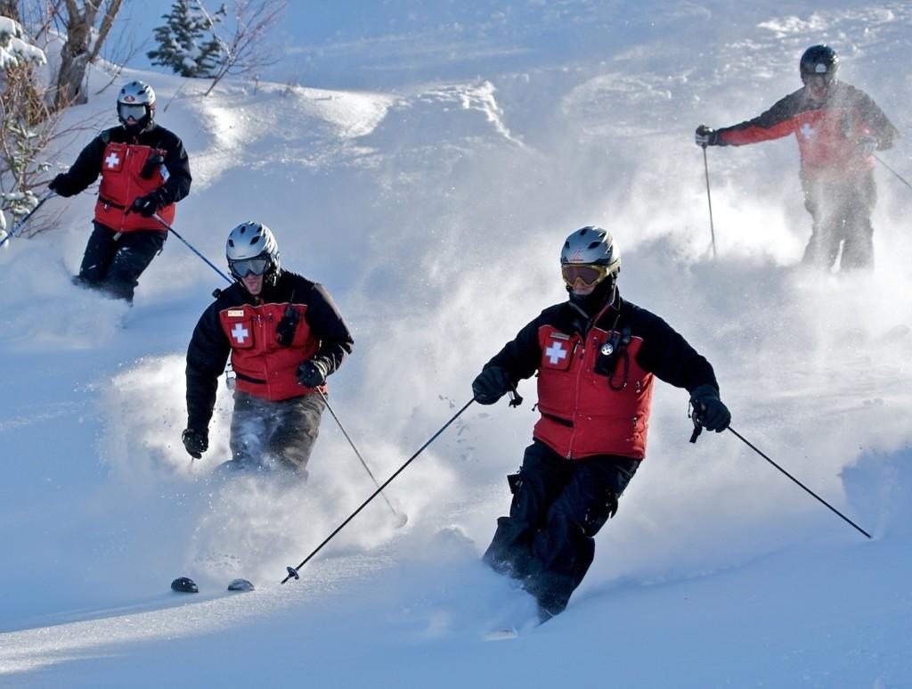 Powder+Mountain+ski+patrol+members+doing+%22sweep%22+and+getting+in+a+few+turns+too.+photo+by+DennyMont+on+Flickr