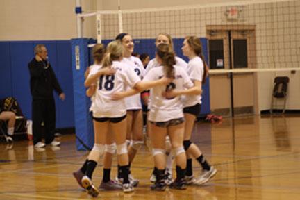 Junior volleyball players enjoy club season