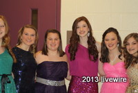 Ninth grade students line up to get picture taken at this years Sweethearts dance.