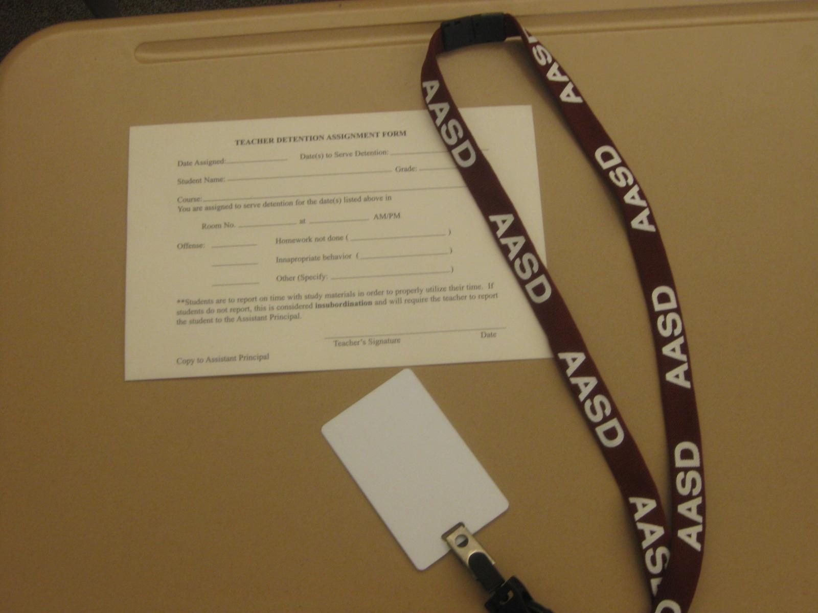 Lanyards are the cause of more and more students getting detentions. Photo by: Shae Imler