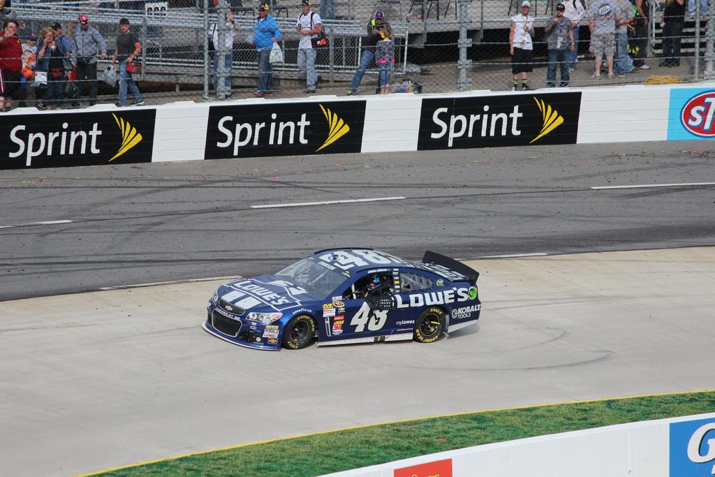 Jimmie Johnson is still the points leader after Kansas.  Photo courtesy of chayes_2014