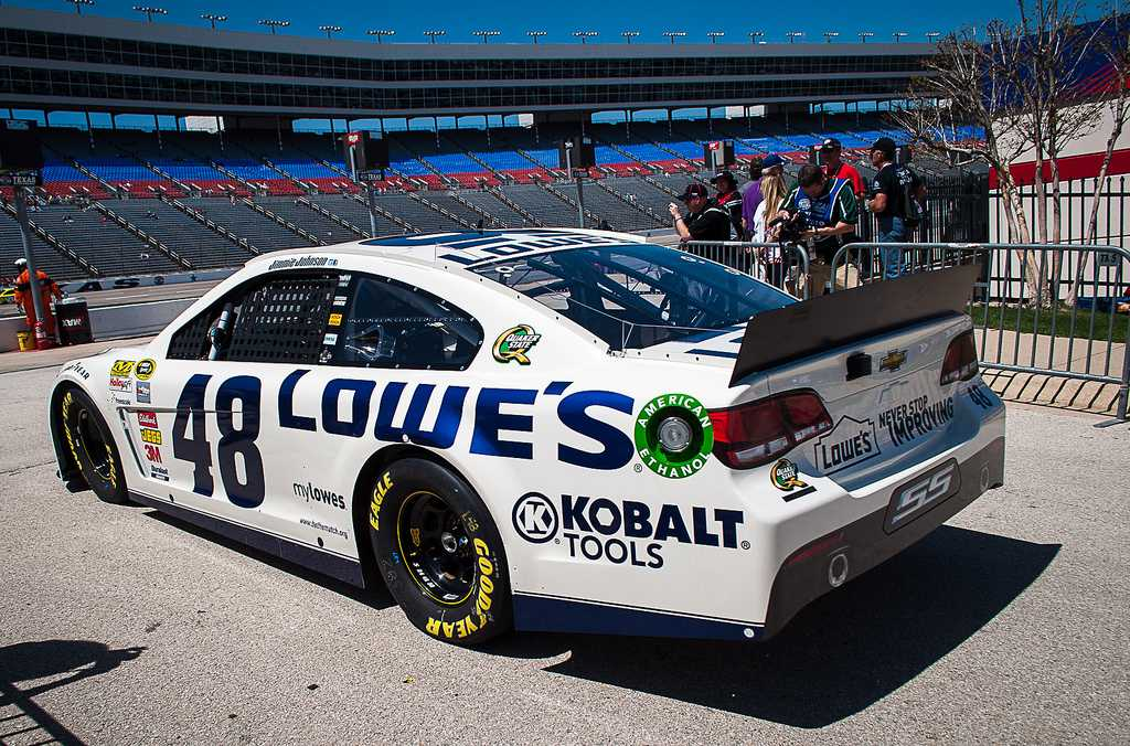 Jimmie Johnson getting ready to start practice for Saturday's race.
