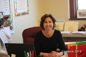 Julie Good is a new teacher.  She replaced long time teacher Ms. Stitt after she retired.