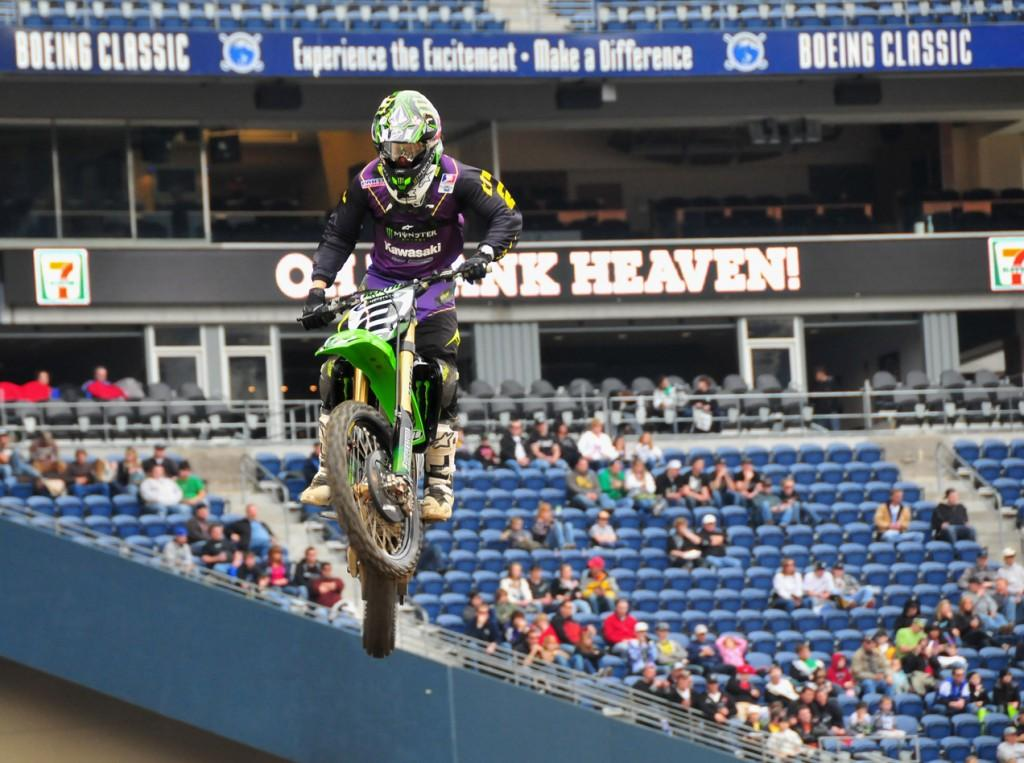 Ryan Villopoto takes his 31st win in Toronto. Watch the next race to see if he can increase his winnings once more. Photo courtesy of jhuffmanphotography.