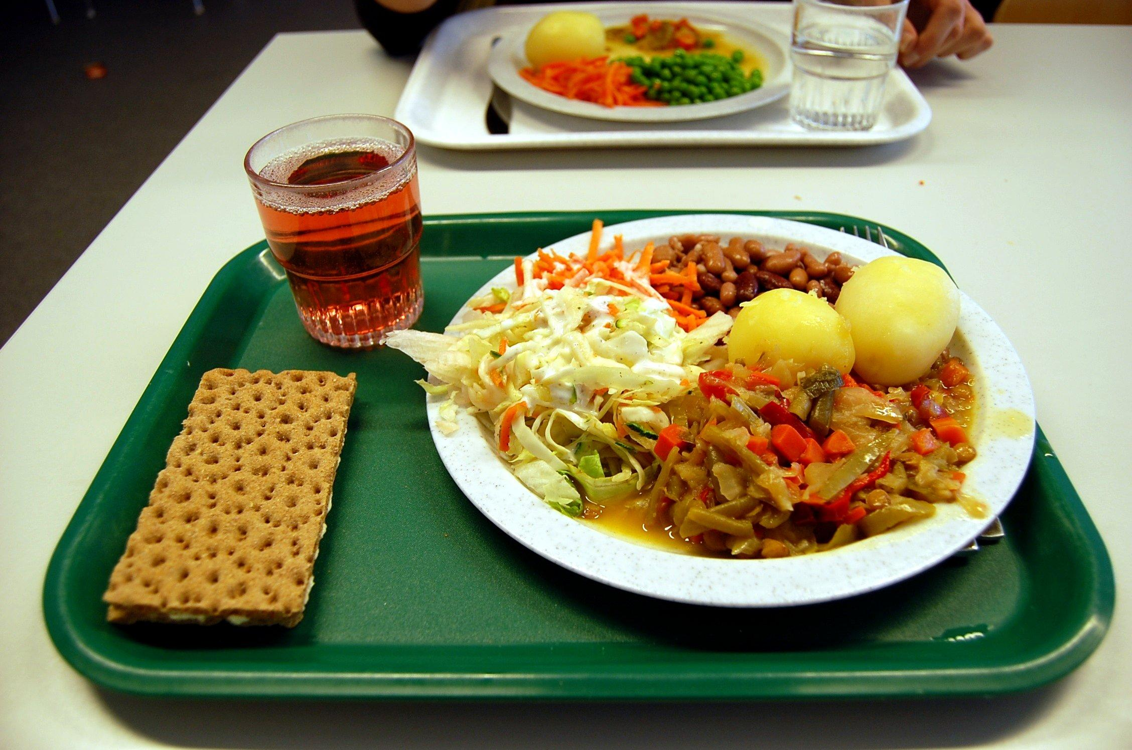 This is how the main platter at a school in Sweden looks like. The school always has a full meal. Photo courtesy of Casey Lehman.