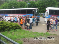 The drama students get off the bus anxious to get into the zoo. Photo by Emily Glacken