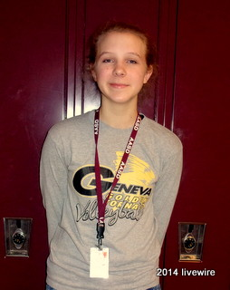 Ninth grader Rachel Borst  takes fourth period drama class. Borst has also participated in many of the schools' drama productions. Photo by Joanne Pringle