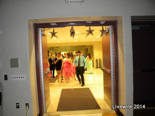The entrance of the dance was decorated. There was a runway leading in to the dance. Photo by Madison James