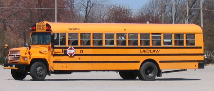 This is a picture of a bus that AASD has. Photo courtesy of Wikimedia Commons http://commons.wikimedia.org/wiki/File:Laidlaw_school_bus.jpg