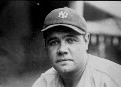 courtesy of    Everything that has to do with sports- Babe Ruth  This week's blog is about Babe Ruth. Ruth is by far the best baseball player to ever step on a baseball diamond. His real name is George Herman Ruth, Jr. but he is known as Babe.   Ruth had  many nicknames that he went by. These include The Great Bambino, The Big Fellow and The Big Bam. He was an amazing player when he played. Ruth was born on February 6, 1895 in Pigtown, Baltimore, MD. Ruth then died on August 16, 1948 in New York City, NY.  He debuted in the MLB on July 11, 1914 and his last appearance was on May 30, 1935. Ruth was inducted to the Hall of Fame in 1936 with 95.13% of the votes (http://www.baberuth.com/).   He was selected twice as an All-Star: in 1933 and 1934. He also has seven World Series Championships. Ruth's number, 3, was retired by the New York Yankees in 1948.   His best award is being on the Major League Baseball's All Century Team.   http://www.baberuth.com/