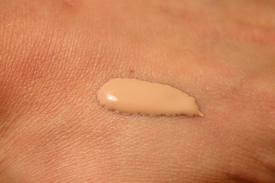 Here is an example of what the BB cream wold look like on your skin.  http://commons.wikimedia.org/wiki/File:Foundation_(cosmetics).jpg#/media/File:Foundation_(cosmetics).jpg