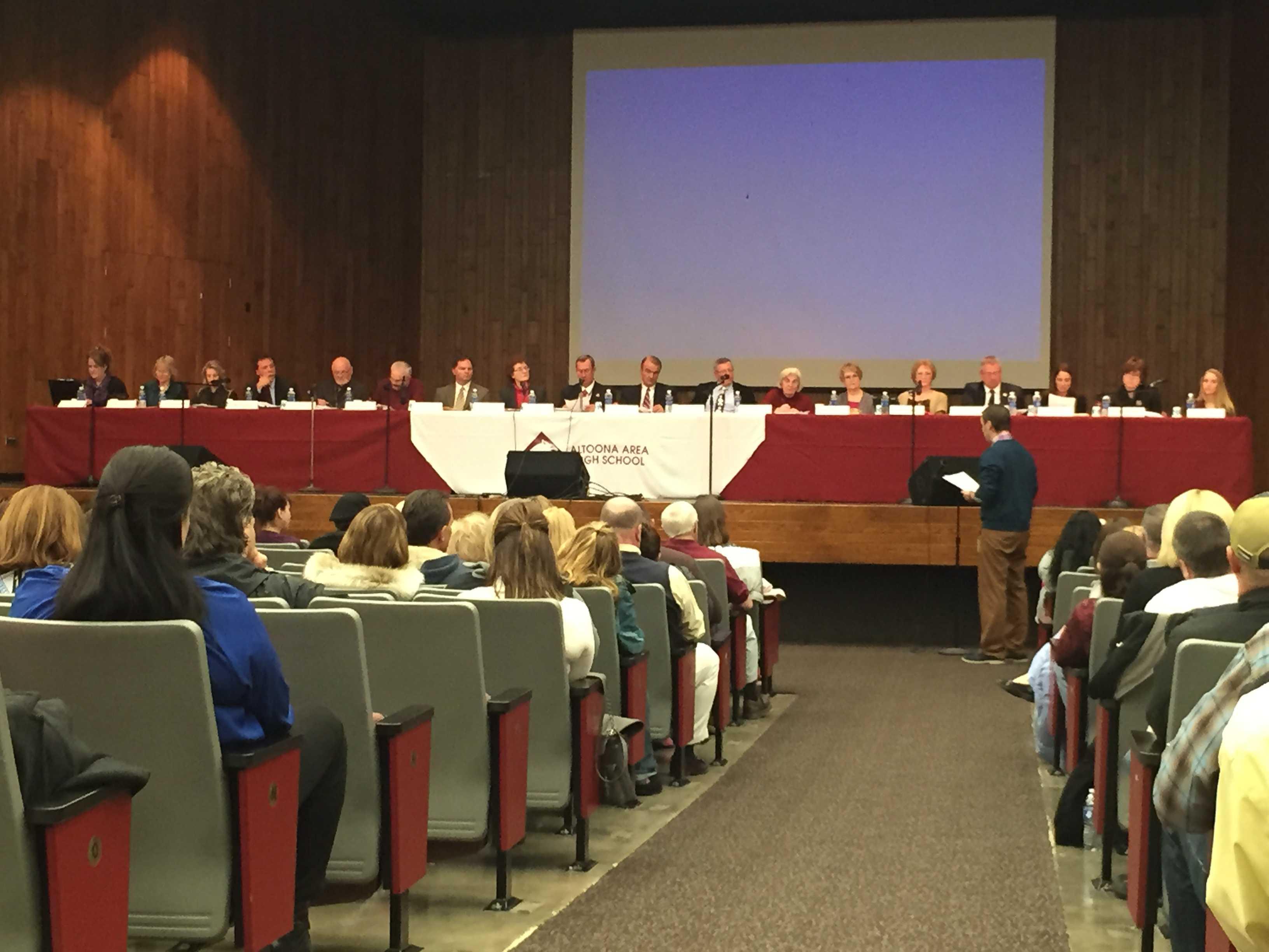 James Krug speaks out during the School Board meeting on Jan. 20