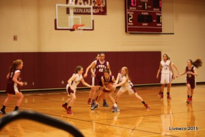 JV girls' basketball heats up as weather cools down