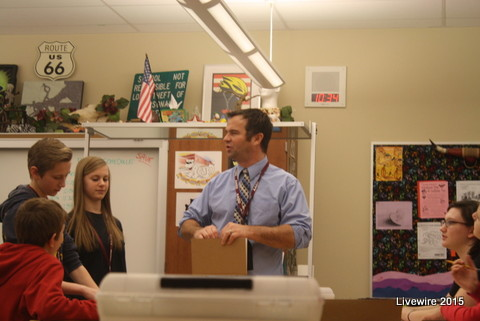 As eighth graders schedule for next year be sure to check out the 3D art class with Mr. King Photo by: Sarah Harmon