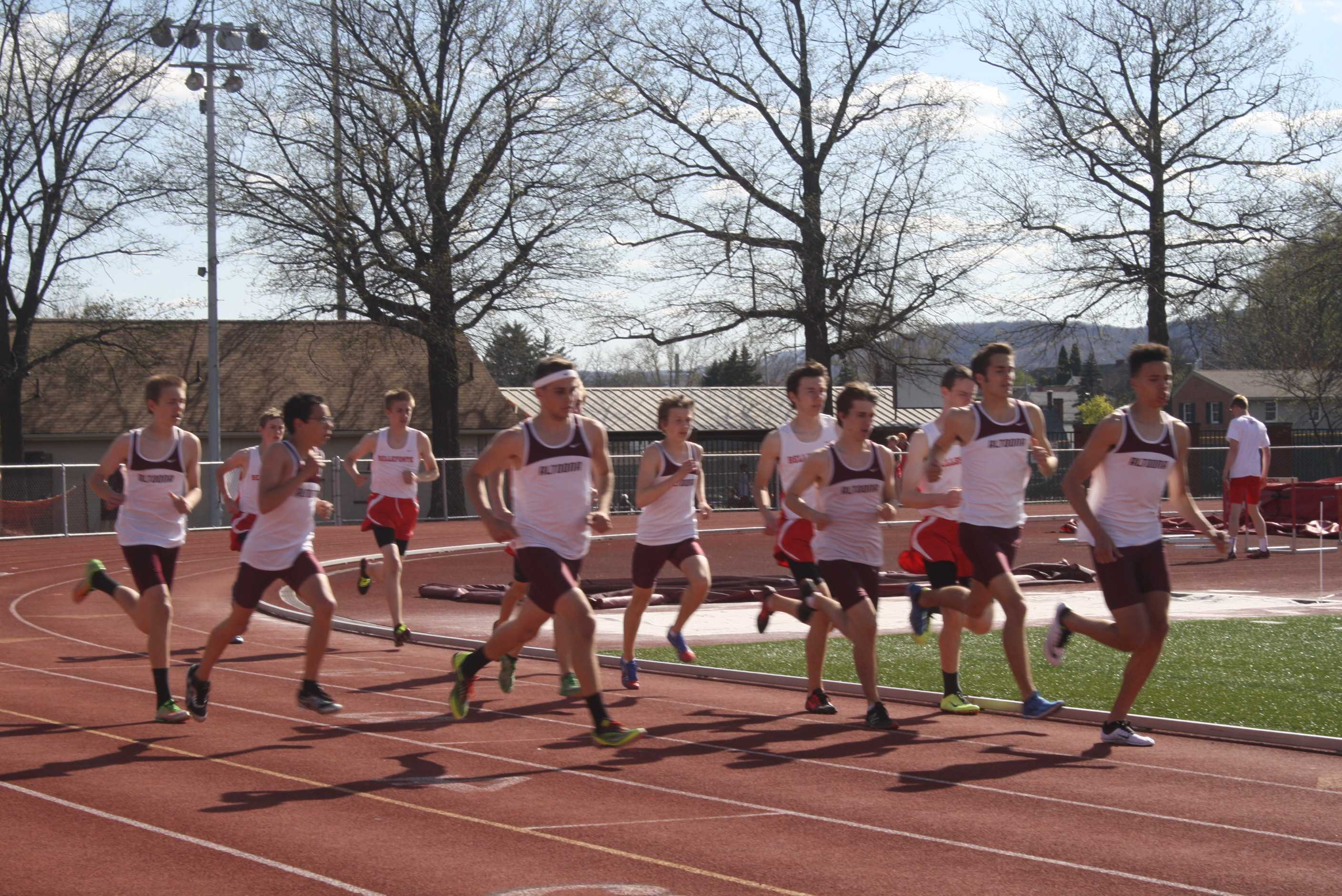 Multiple Altoona students participate in a track meet at Manson Park.