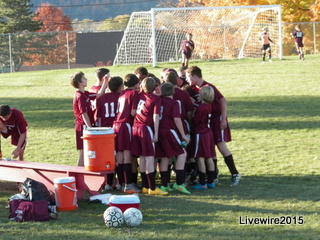 Boys' soccer team finishes season undefeated