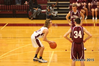Connor McCarthy lines up to take a foul shot.  Photo by Tybrus Bowman