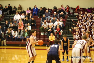 Jacob Hunter gets ready to shoot a free throw against Hollidaysburg at home.