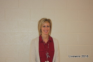 Mrs. Palfey the seventh grade health teacher is always smiling and prepared and ready to take on the day.  Photo By: Gracie Shaffer