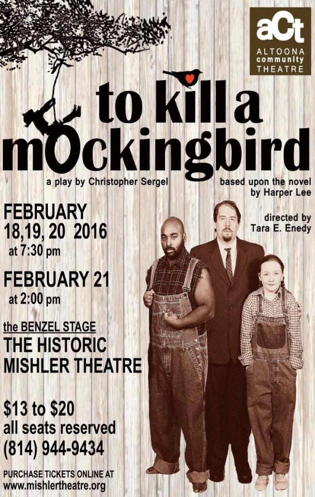 The+poster+of+the+To+Kill+a+Mockingbird+play.++Photo+taken+by++Nina+Cipriani.