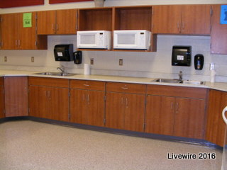 As it was previously stated, students cook in FCS. this is the kitchen area where you cook and prep your food.