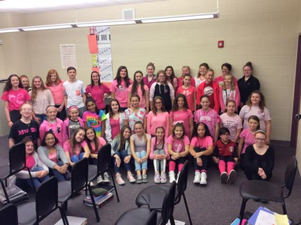 Connell's students think pink