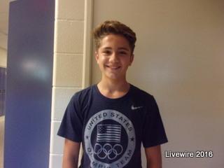 """I'm not really into politics, but I prefer Trump,"" said eighth grade student Austin Kravetz."