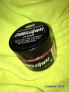 Bubblegum Lip Scrub by Lush Cosmetics.