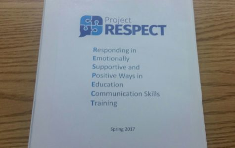 The Project RESPECT program binder holding its materials.