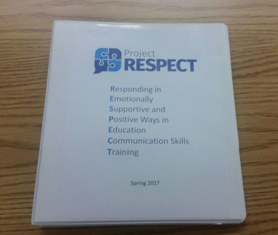 The+Project+RESPECT+program+binder+holding+its+materials.+