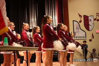 Come On Altoona! The Altoona Jr high cheer squad rallied the crowd at the assembly on Friday. The cheer leaders performed at the beginning, during, and at the end of the assembly.