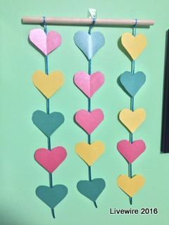 DIY: Hanging Hearts