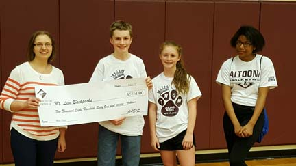 NJHS mini thon raises money for backpack program