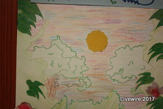 Spring break artwork: The picture depicts a spring scenery that is fitting to this time of year. Students all around are excited for spring break!