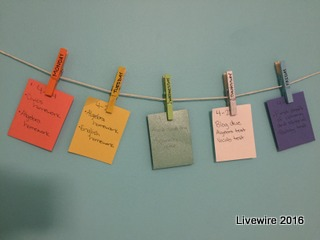 DIY: Clothespins Reminders