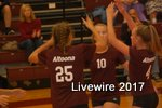 During the volleyball game on September 6, 2017, number 25, Reese Tremitiere and number 10, Morgan Stevens, get ready to set the ball so the other can spike it over the net. They made the point for their team and the two had many other amazing plays.