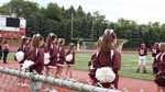 Game Day! Eighth and ninth grader cheerleaders observe the football game between Altoona and Latrobe on Saturday, September 2nd. As they did their cheers, the football players gave it their all, and won the game!