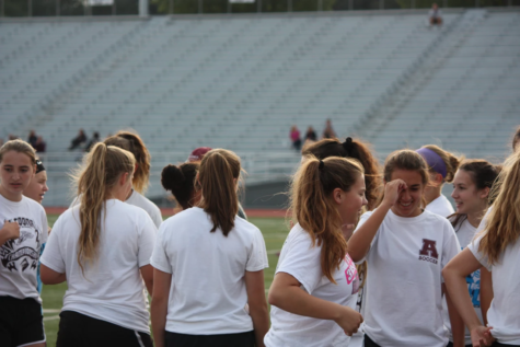 Altoona soccer scrimmage and Gold ribbon walk
