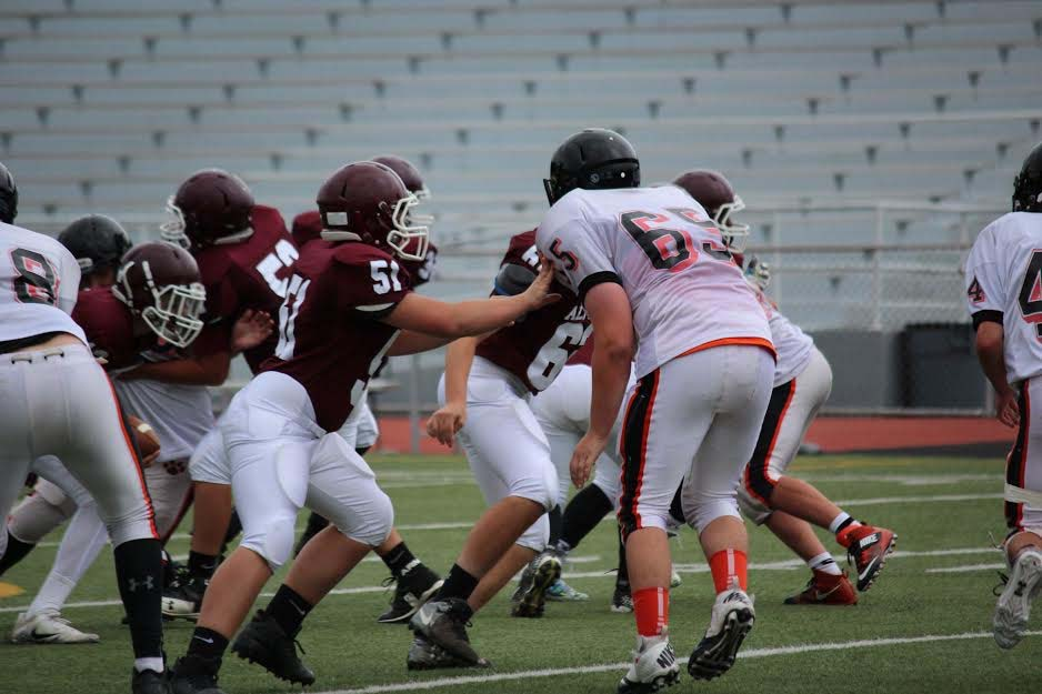 Ninth grader Benjamin Blackie Is defends the Altoona Mt. Lions on the second of September. Benjamin and his team then won the game against Latrobe