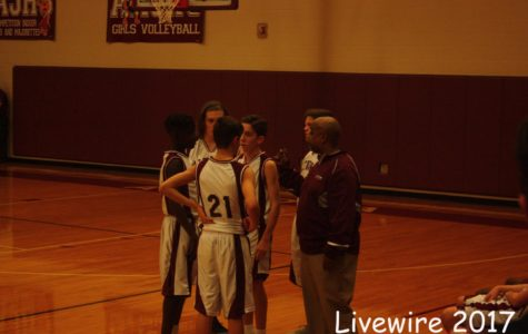 Eighth grade maroon basketball on 12-12-17