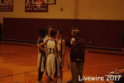 Eighth grade maroon basketball on 12-12-17
