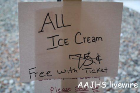 Ninth grade ice cream party and ninth grade maroon basketball game