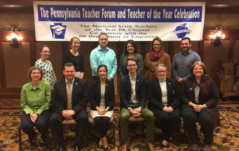 Tim Dzurko participated in a celebration recognizing Pennsylvania teacher of the year nominees.