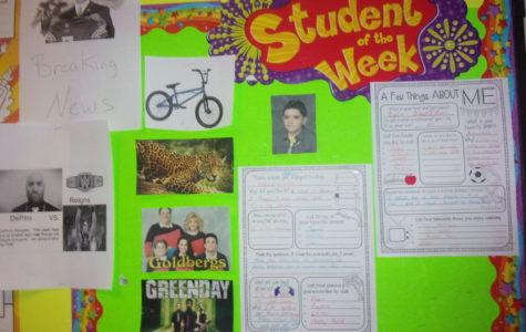 Seventh grade teachers choose students of week