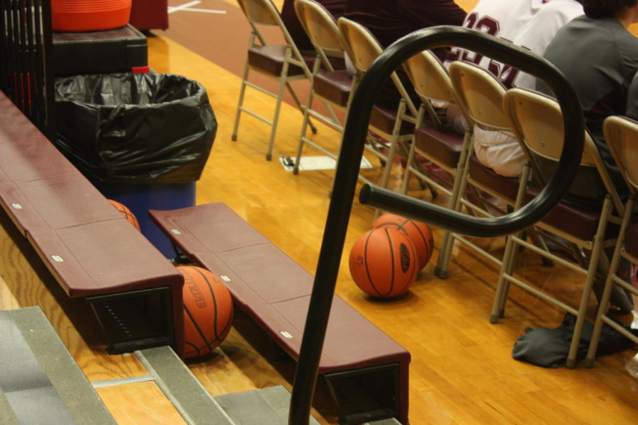B-ball.+A+basketball+sits+to+be+used+at+the+game+on+Jan.+10.+Soon+after+players+used+the+ball+and+Altoona+won+the+game.