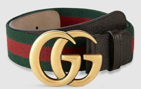 Signature Web canvas belt with a textured leather trim and our Double G buckle.