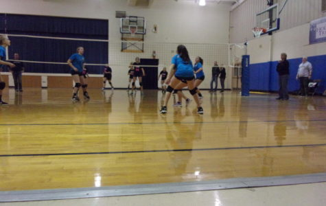Pass! Seventh grader Julia Veneziano gets ready to pass the ball and score a point for her team.