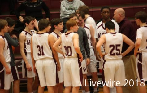 Ninth grade boys white basketball 2-6-18