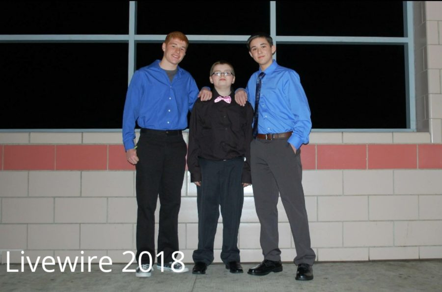 We're cool. Jonah Cunningham, Michael Patterson and Nick Lauver pose for the camera on Feb. 15. The three boys posed then went to the dance and partied.