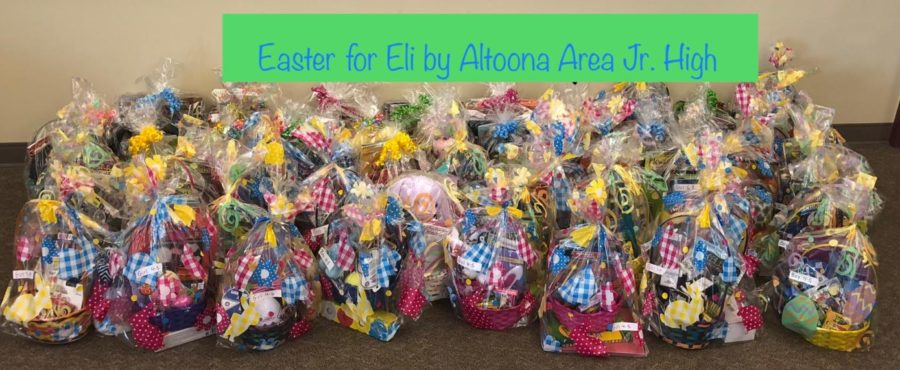 58+baskets+full+for+those+little+kids+who+are+not+able+to+be+home+for+Easter.+The+school+all+got+together+to+make+these+baskets+to+send+away.+